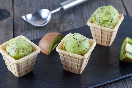 Mini kiwi sorbet