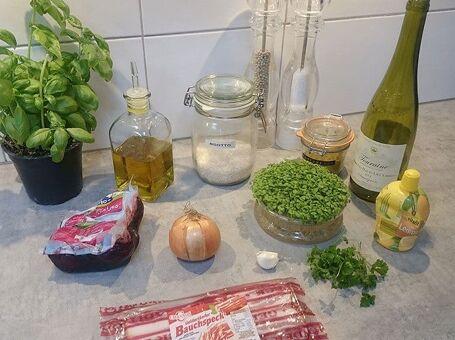 Rode bieten risotto met buikspek