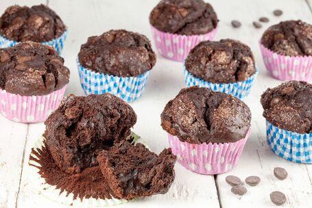 Pure chocolade muffins