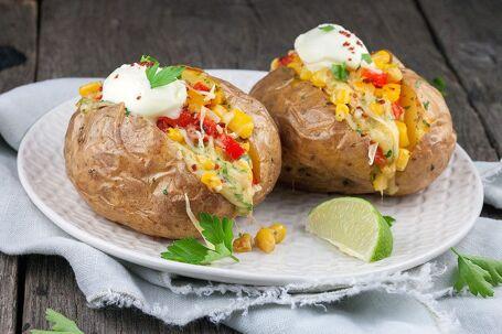 Mexicaanse gepofte aardappel