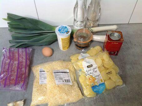 Preischotel met aardappels en gehakt