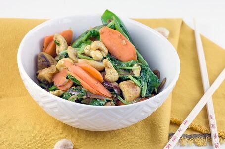 Gewokte groenten met kerrie