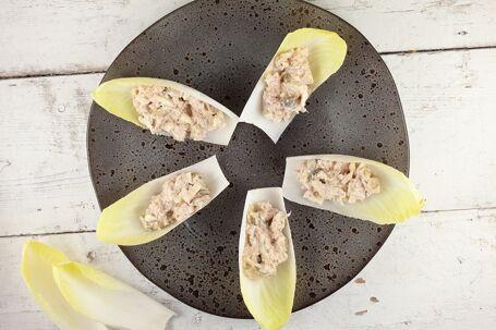 Witlofbootjes met tonijn