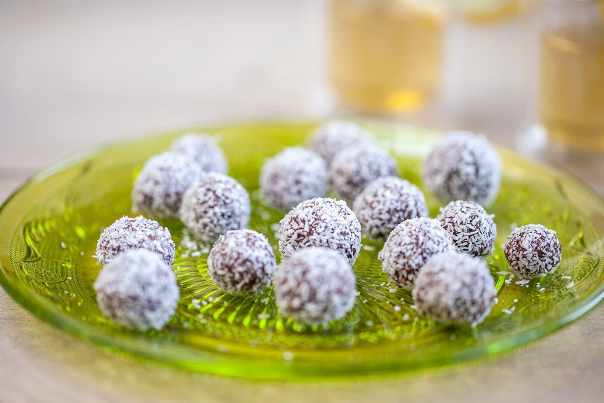 Suikervrije kokosballetjes