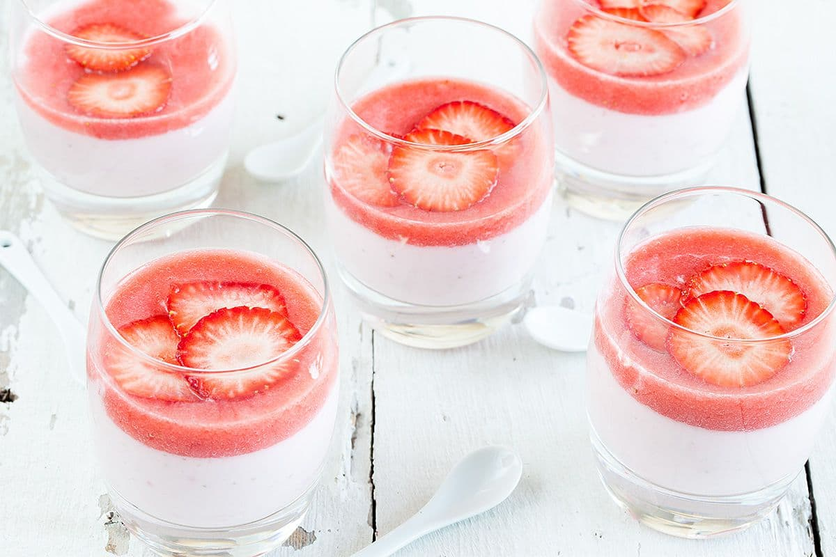 Aardbeienkwark met anijs