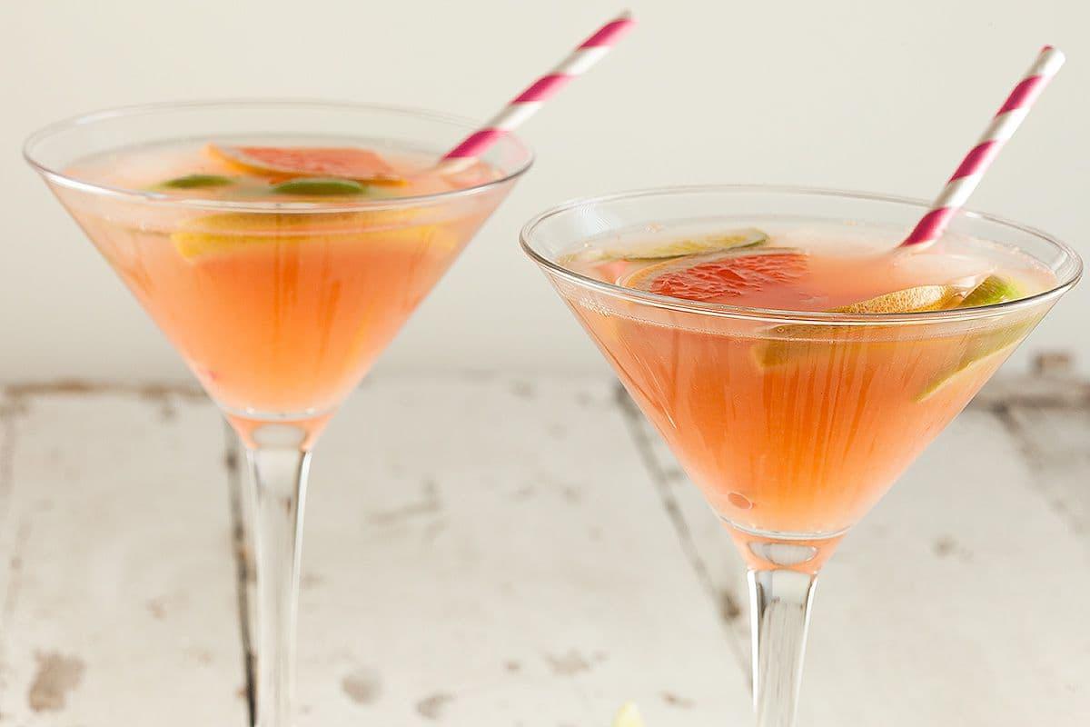 Pittige grapefruit cocktail