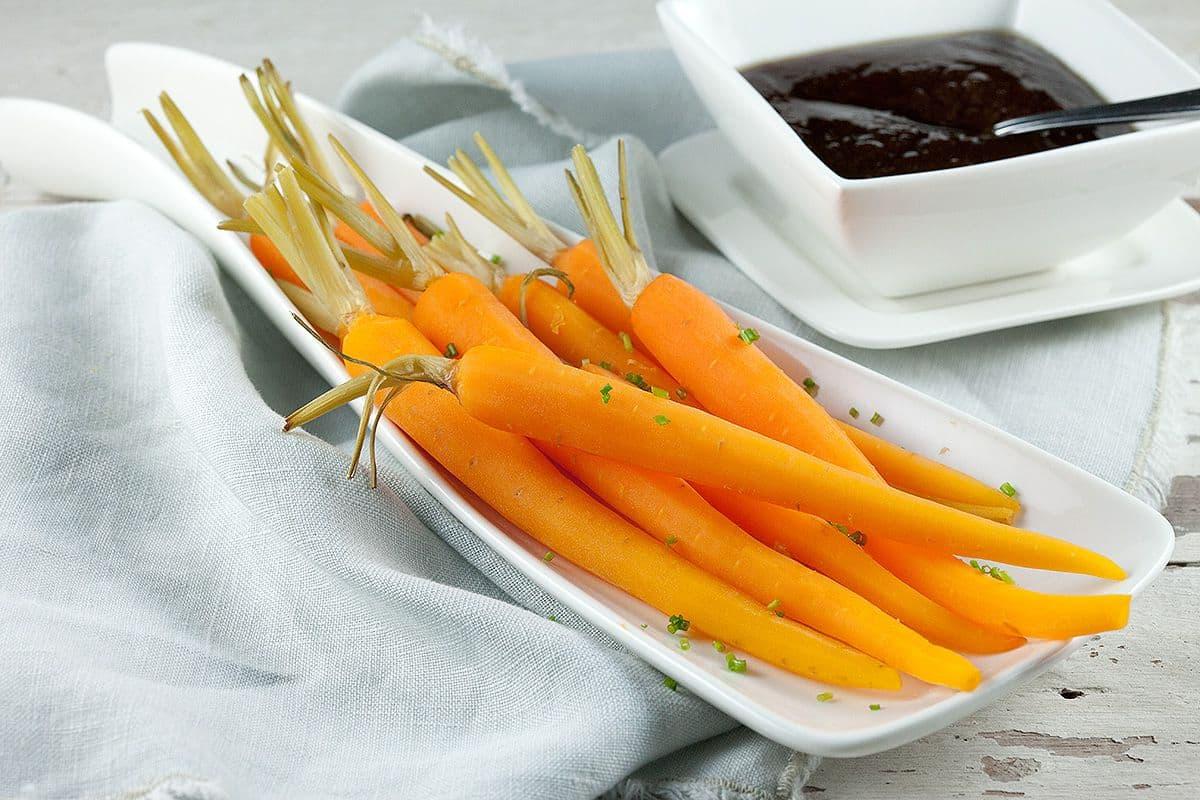 Gestoomde wortelen