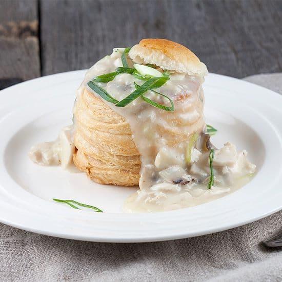 Pasteitje met kip en champignons