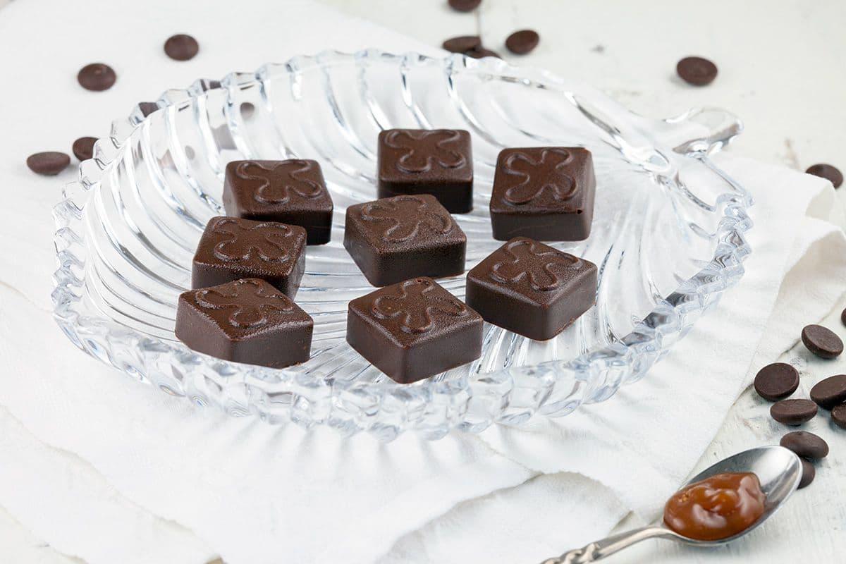 Bonbons met romige karamel vulling
