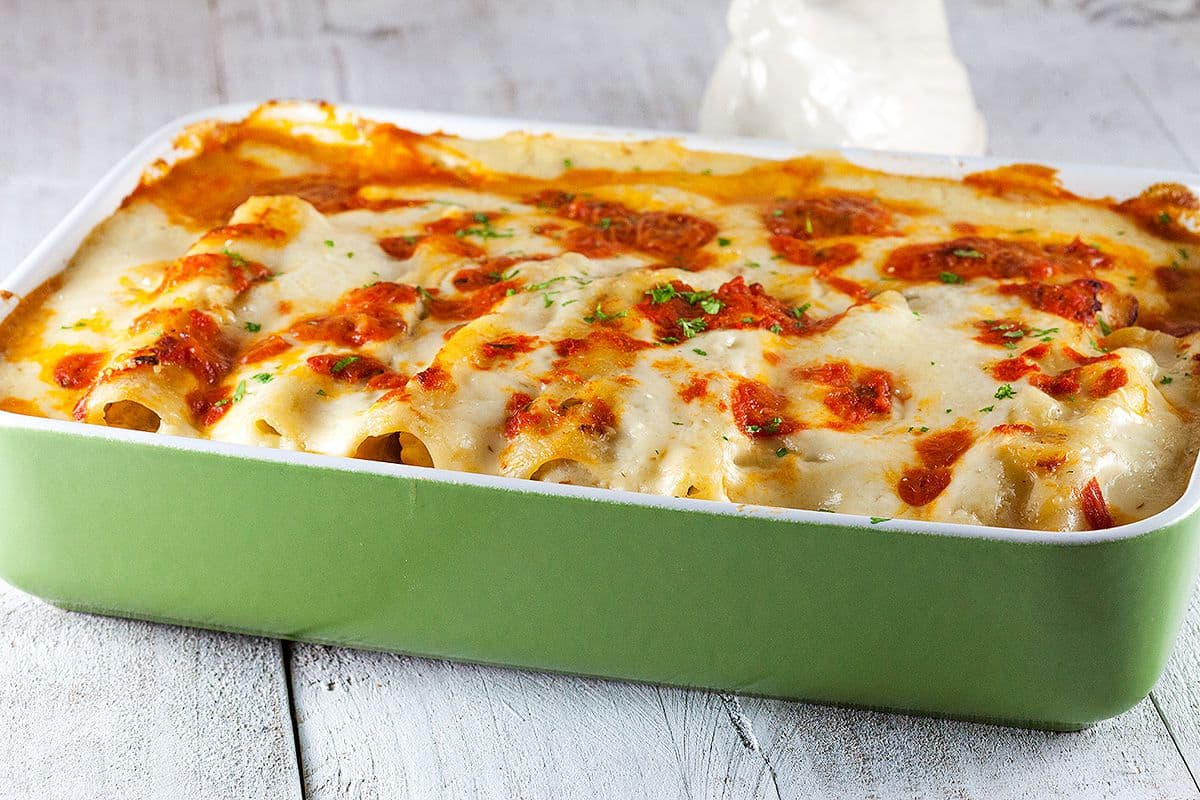 Cannelloni met kippendijen
