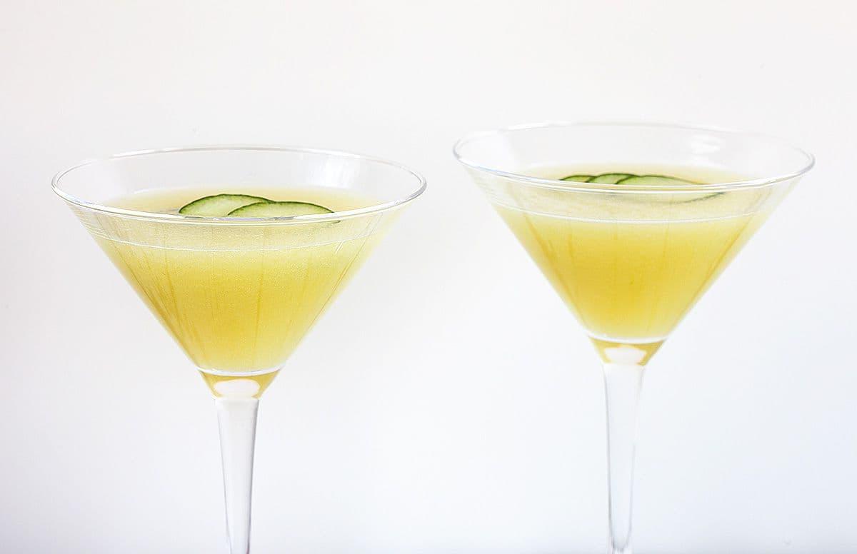 Galiameloen komkommer cocktail