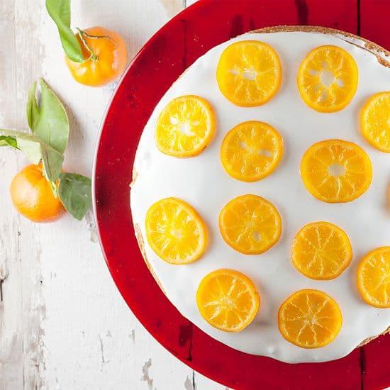 Lagen cake met mandarijntjes