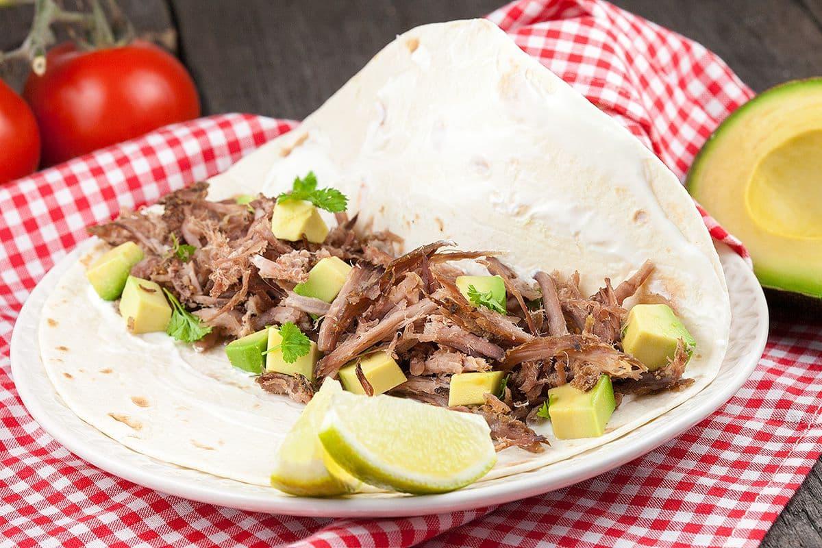 Mexicaans varkensvlees carnitas uit de slowcooker