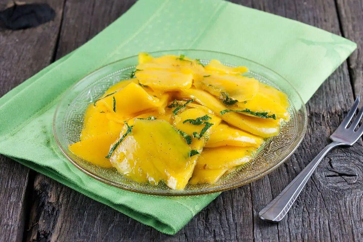 Suikervrije mango plakjes