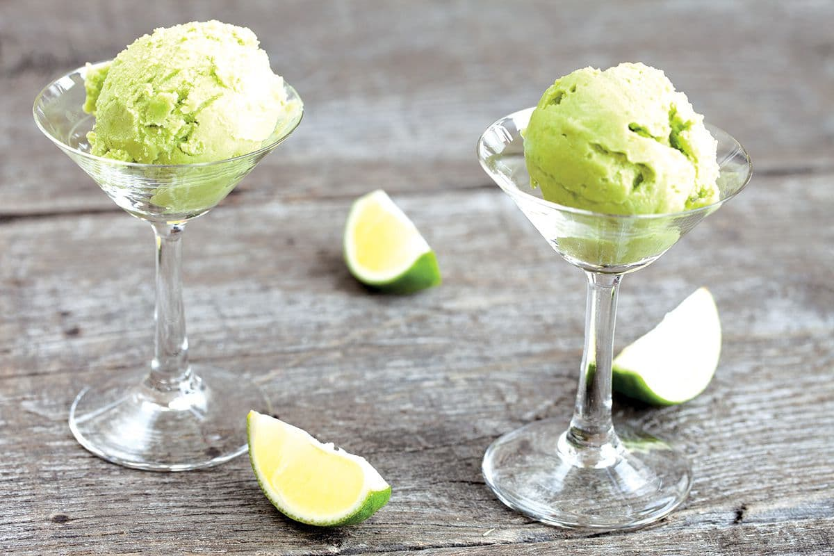 Avocado ijs