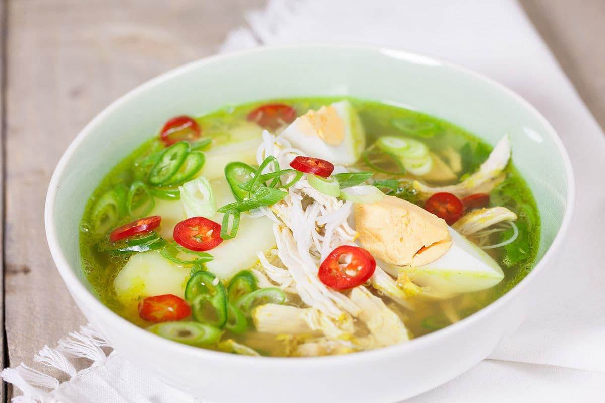 Maleisische noedelsoep met kip
