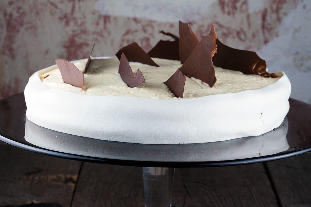 Chocoladetaart met marsepein mousse