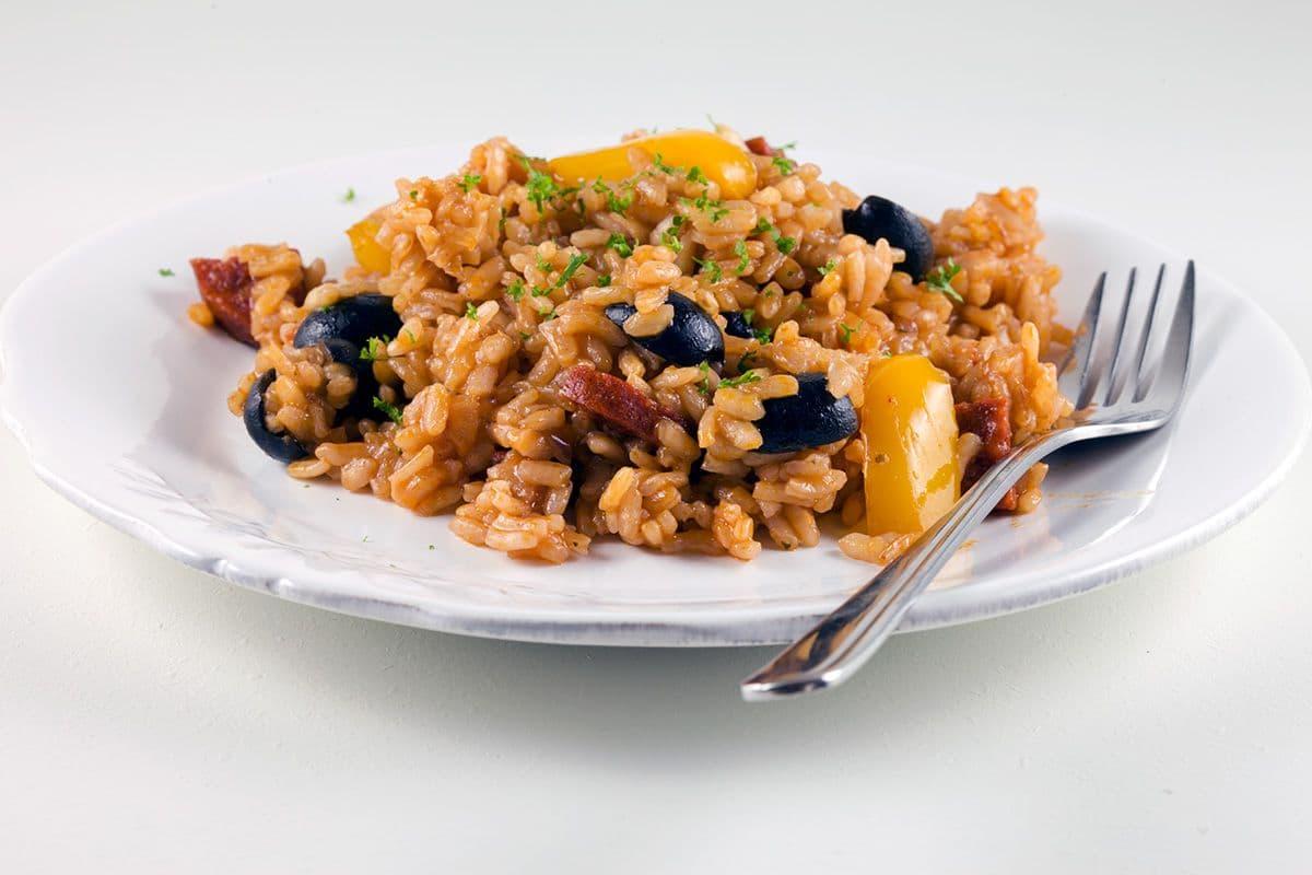 Risotto met chorizo en paprika