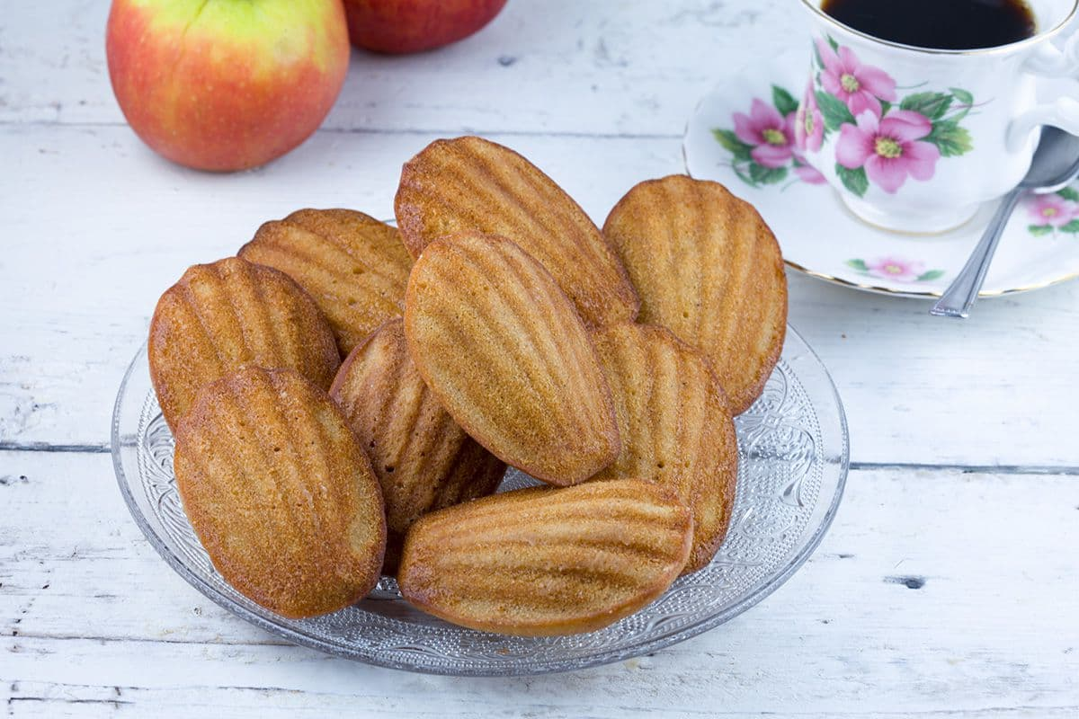 Appel en kaneel madeleines