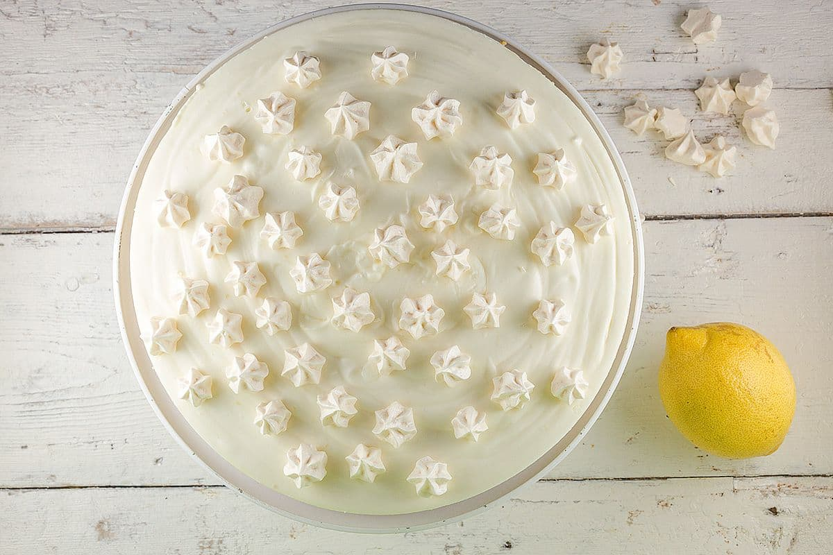 Citroen kwarktaart met meringues