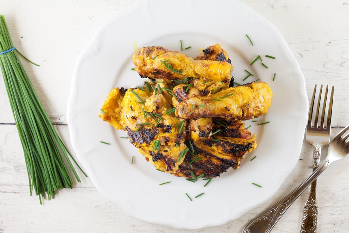 Kip tandoori uit de pan