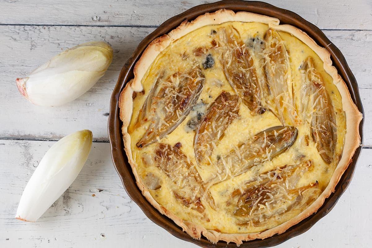 Quiche met witlof en blauwe kaas