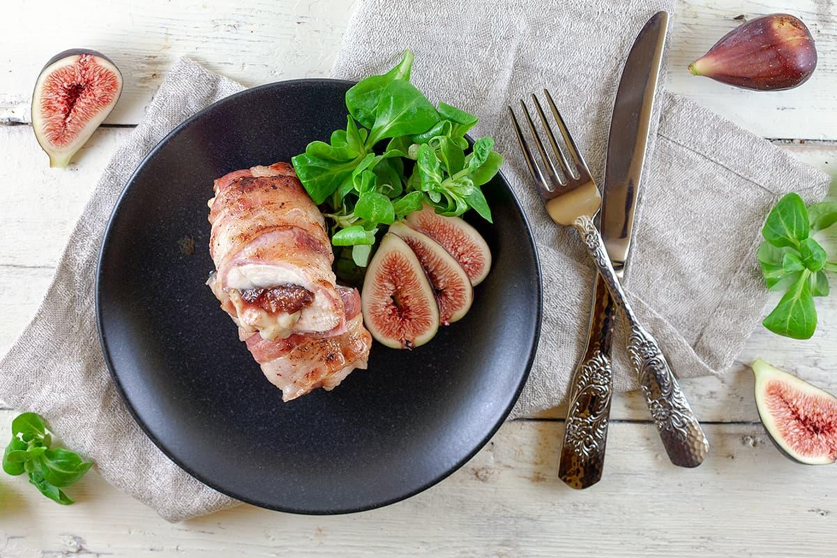 Kip met vijgen en camembert