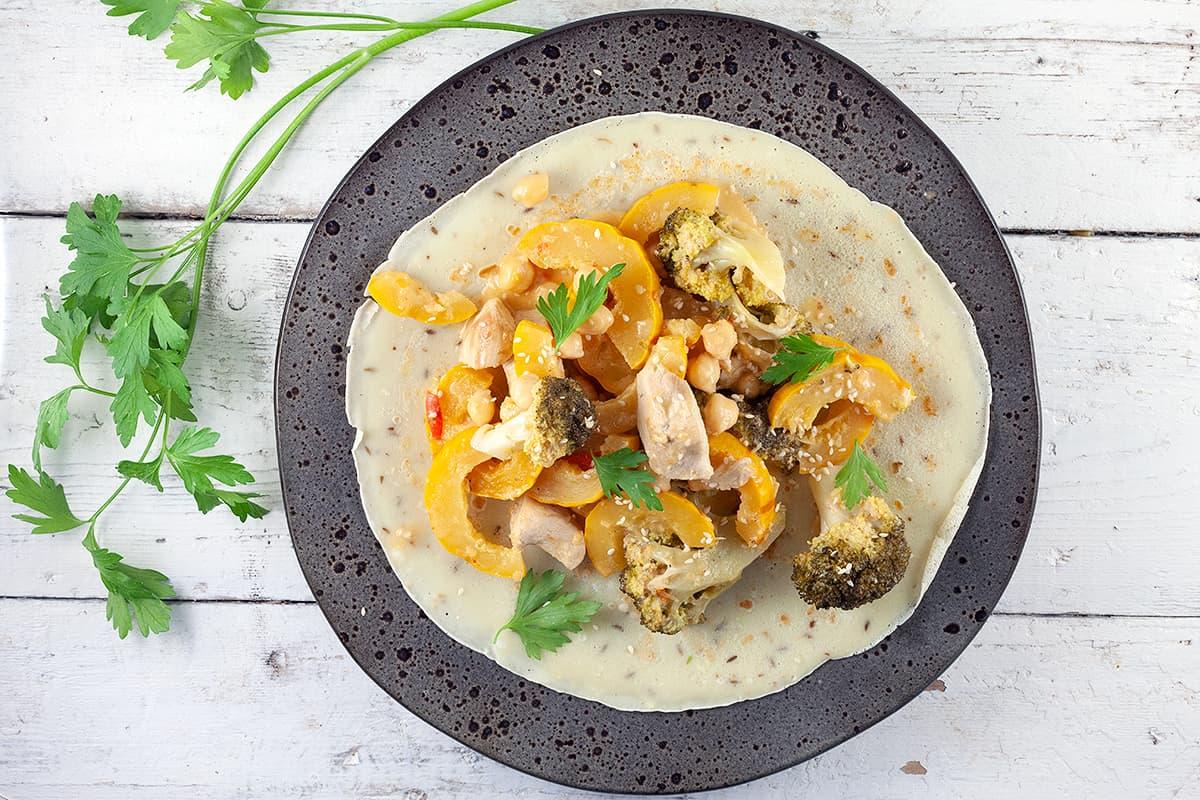 Curry van delicata pompoen