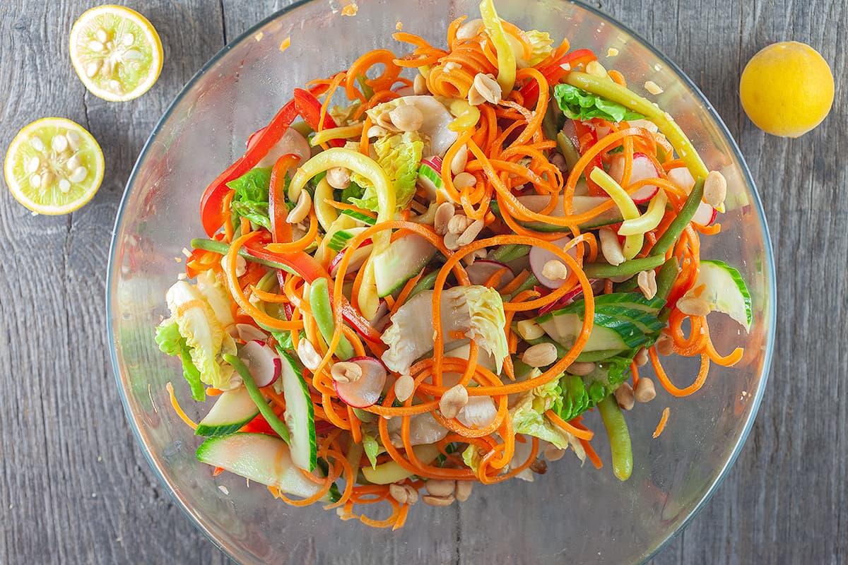 Oosterse salade met yuzu dressing
