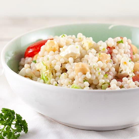 Parelcouscous salade met bloemkool