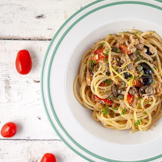 Spaghetti met tonijn