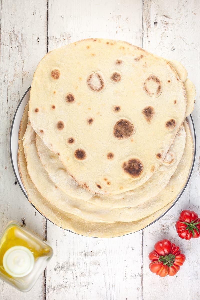 Piadina - Italiaans platbrood