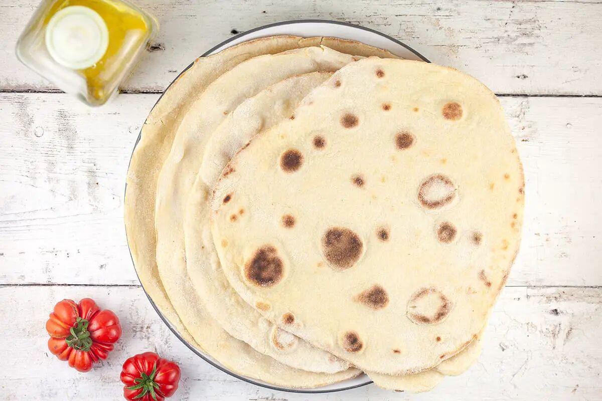 Piadina zelf maken - Italiaans platbrood